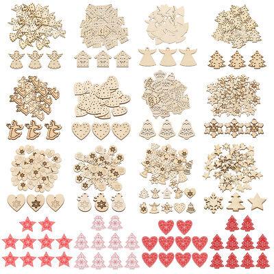 Weihnachtsbaum Handwerk (10/50 Stück Holz Weihnachtsbaum Schmuck Anhänger Xmas Party Handwerk am besten)
