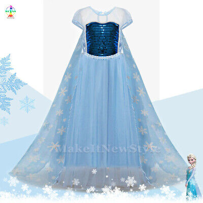 Anna Dress Up Fancy Costume Girls Party Kids Birthday Dress (Kids Frozen Kostüm)