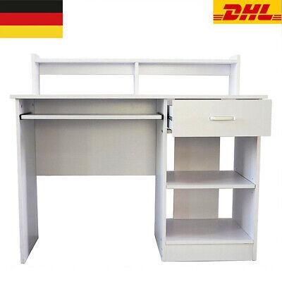 Computertisch Schreibtisch Schubladen Industrial 190301 White Modern MDF Stahl