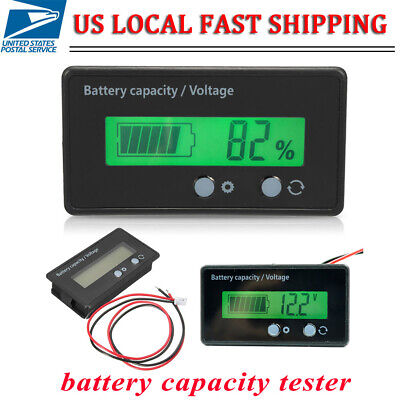 Meter Lcd Digital Battery Tester Capacity Indicator Voltmeter Lead-acid Monitor