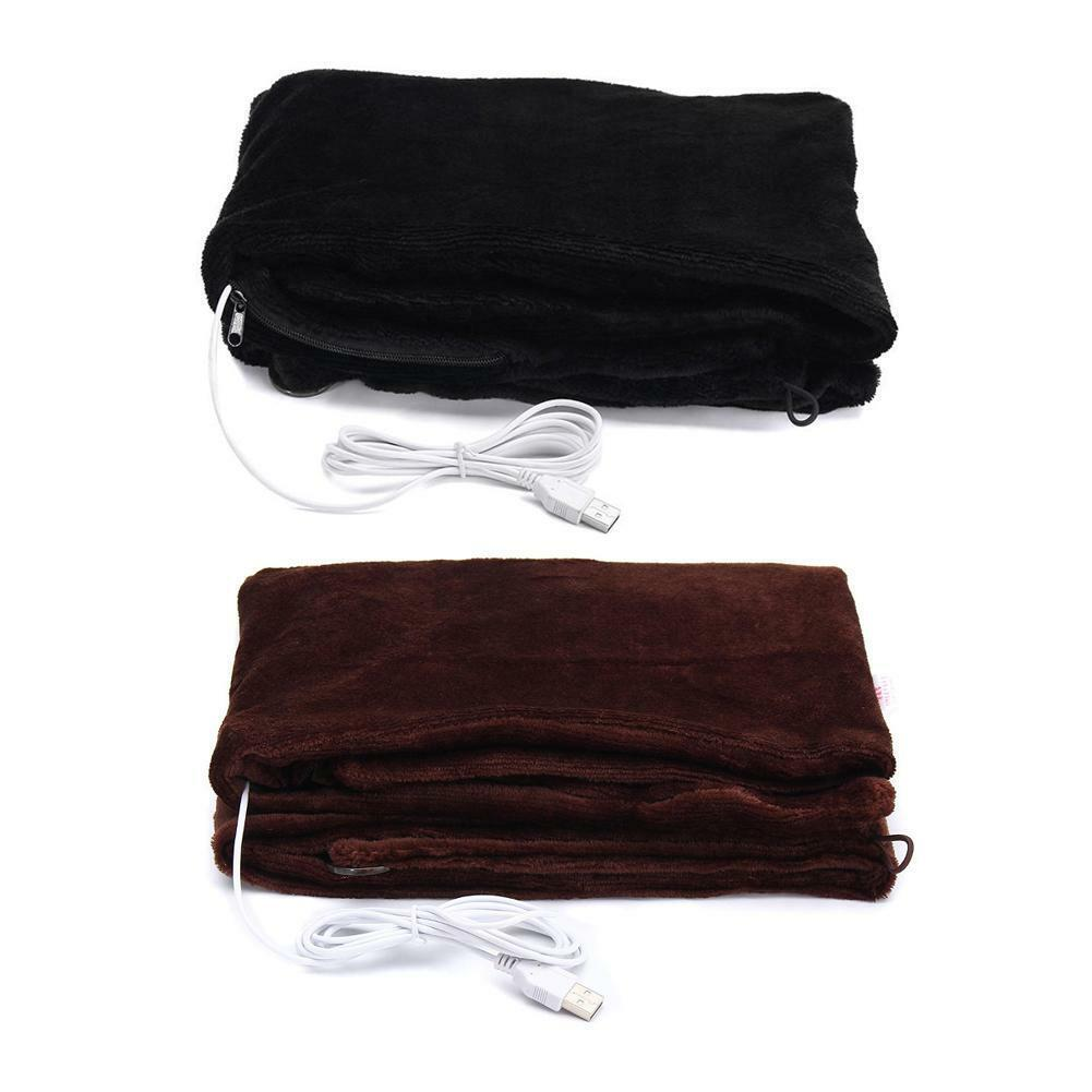 4W 5V USB 45x80cm Plush Electric Heated Throw Blanket Warm W