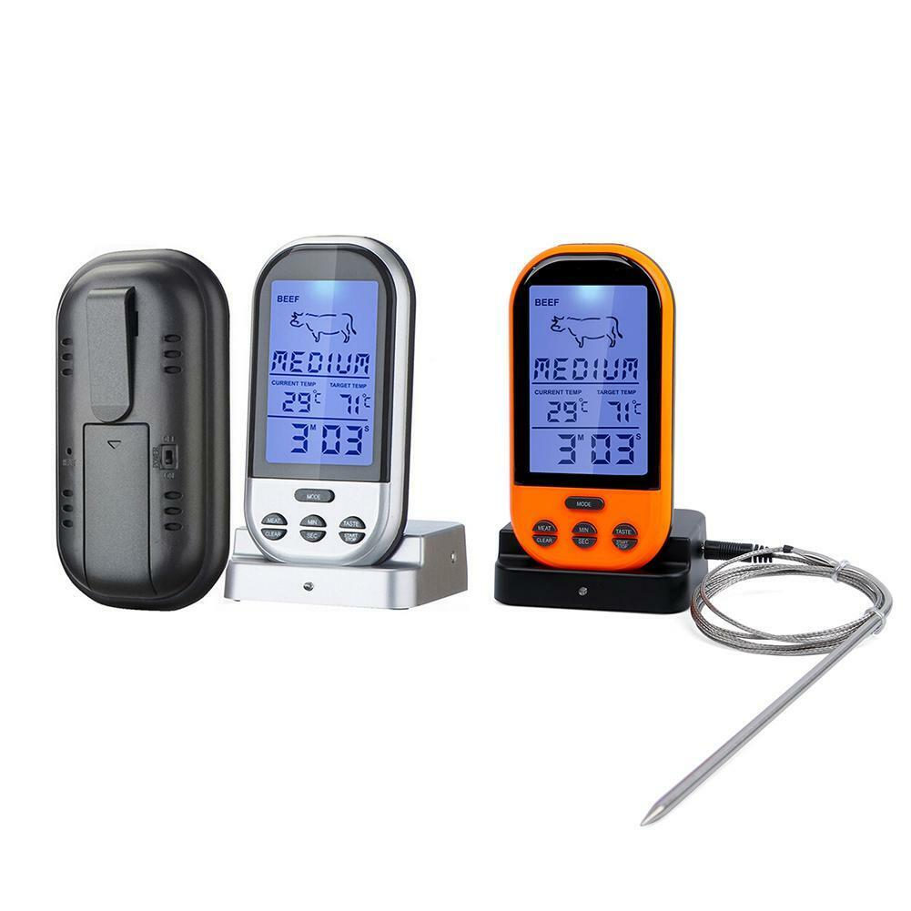 Digital Wireless Meat BBQ Thermometer Oven Food Probe Kitche