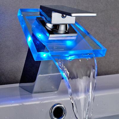 Rubinetti cascata led rubinetteria contemporanea per bagni di design shopgogo - Rubinetto bagno cascata ...