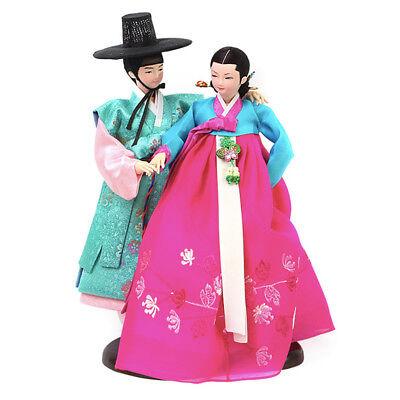 "Korean Traditional Handicraft Dolls Sarang-ga 15"" Collectible Figure Couple Gift"