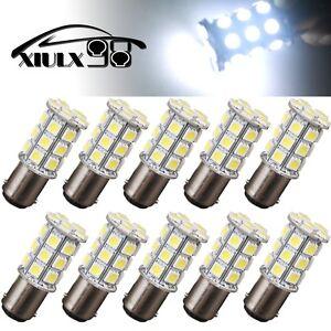 10x White1157 BA15D 27SMD 5050 LED Interior Daytime Running Light Bulb 1076 1141