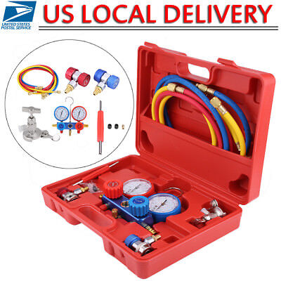 R134a Hvac Ac Refrigeration Kit Ac Manifold Gauge Set Auto Serivice Tool Kits