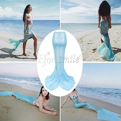 US Women Mermaid Tail Swimmable Photography Skirt Beach Party Christmas Costume - Mermaid Costume For Women
