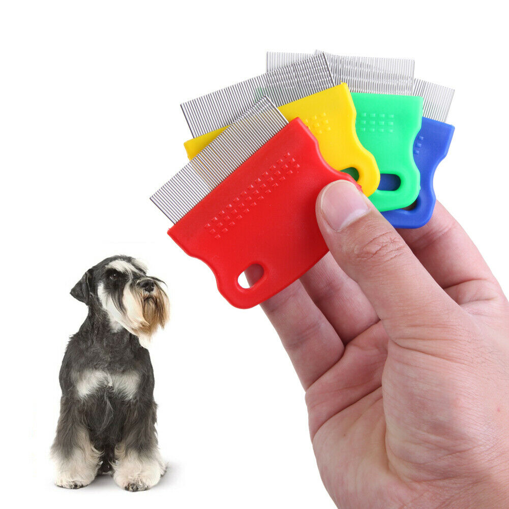 Pet Flea Comb Steel Pin Brush for Dog Cat Kitten Hair Trimme