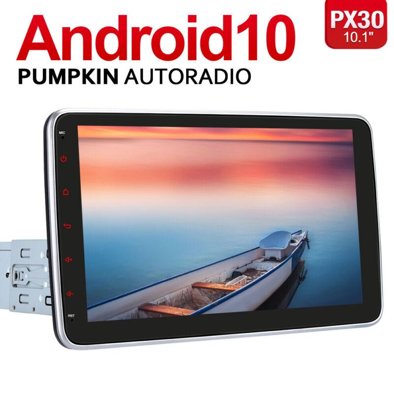 "PUMPKIN Single 1 Din 10.1"" Android 10.0 Car Stereo GPS Navigation Touchscreen FM"