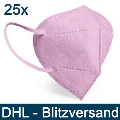 Designer FFP2 Maske 25 Stck.Lady- Rosa CE Zertifiziert Mundschutzmaske Pink bunt