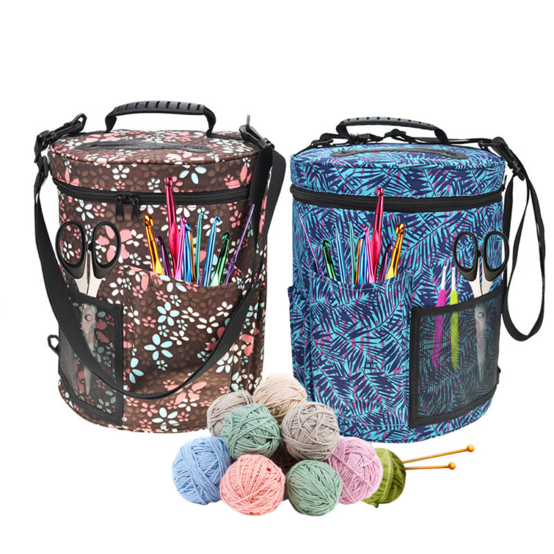 2. Size about 27.5*32.5 cm / 10.83*12.80 in. Packing list Woolen yarn storage bag * 1. Shoulder strap*1 (reference items not included)  sc 1 st  eBay & Large Yarn Storage Bag Knitting Crochet Tool Tote Organizer Holder ...