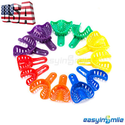 25pcs Dental Ortho Impression Trays Disposable Middlesmall Available For Child