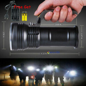6000LM 3modi CREE T6 LED Handheld Rechargeable Taschenlampe Flashlight+18650Akku