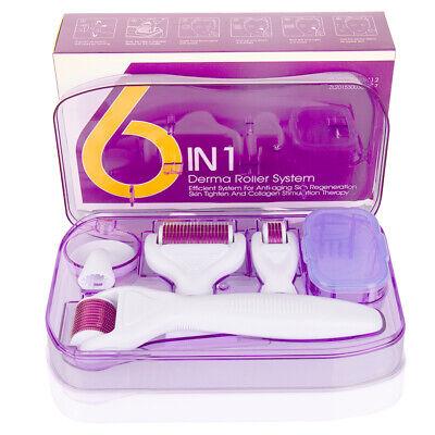 6in1 Derma-Roller Microneedle Nadeln Therapie Anti-Aging Hautpflege Falten