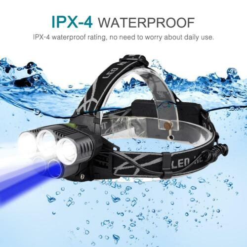 90000 Lumens Headlight USB Rechargeable LED Headlamp Tactical Head Torch Lamp