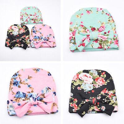 Bébé Naissance Nouveau-nés Fille Bonnet Chapeau Casquette Floral Fleur Souple NF