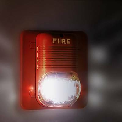 Sound Light Alert Safety System Sensor Fire Alarm Warning Strobe Siren Horn