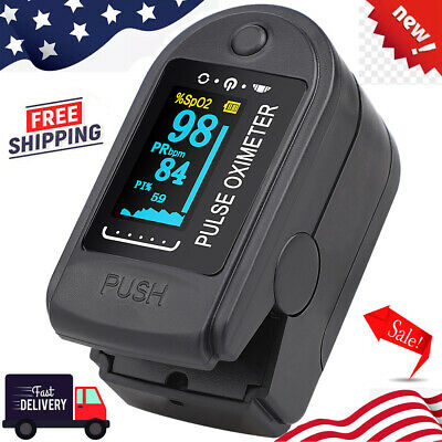 Fingertip Pulse Oximeter - Oxygen Saturation Meter Spo2 - Pr Blood Monitor New