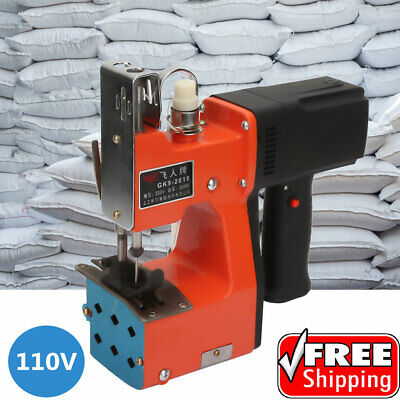 110v Industrial Portable Bag Closer Stitching Sewing Machine Electric Sealing Us