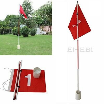 - Practice Putting Green Flagstick Backyard Golf Hole Pole Cup Flag Stick 3Section