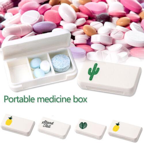 Mini 3 Grid Portable Pill Medicine Box Holder Storage Organizer Container Case