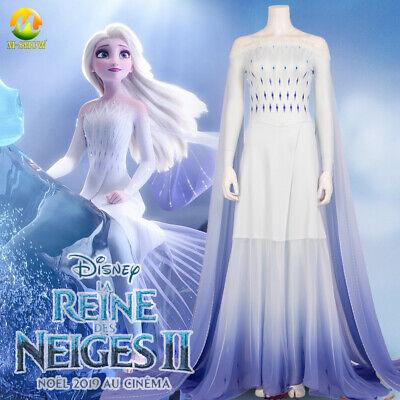 Custom For Women (Princess Elsa Cosplay Dress Halloween Fancy White Dress Women Girls Custom)