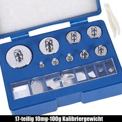 Kalibriergewicht, Prüfgewichte, Eichgewicht, 10mg-100g, 17 Stück, Im Koffer TOP