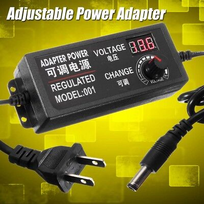 9-24v 3a 72w Adjustable Power Adapter Speed Control Volt Acdc Supply Display