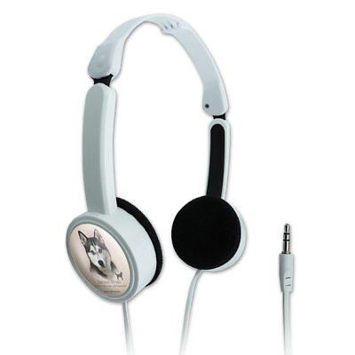 Siberian Husky Dog Breed Novelty Travel Portable On-Ear Foldable Headphones