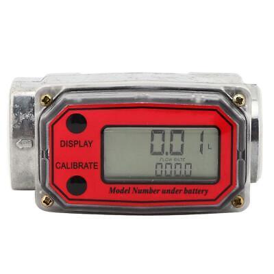 Mini Digital Turbine Flowmeter Diesel Fuel Flow Meter Flowmeter 15-120l 1 Npt
