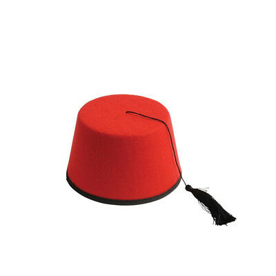 Red Fez 11th Doctor Who Aladdin Prince Eleventh Matt Smith Hat Dr. Hat TV Felt ()