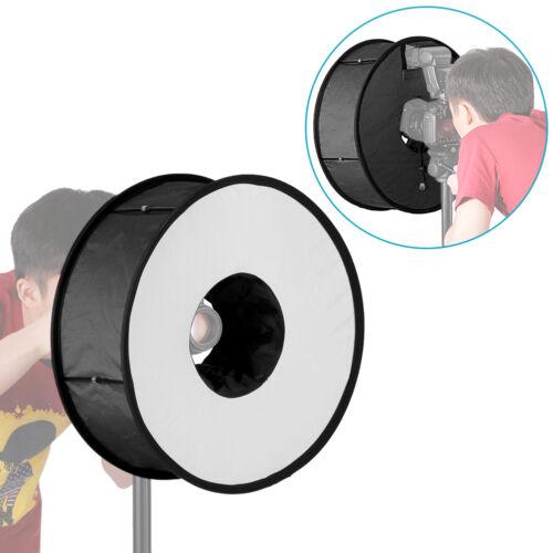 18in/45cm Photo Speedlite/speedlight Ring Flash RoundFlash diffuser softbox US
