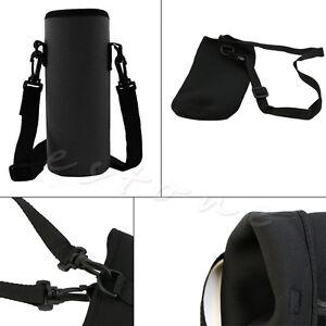 New Neoprene 750ML Water Bottle Carrier Insulated Cover Bag Holder Strap Travel