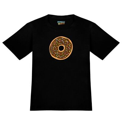 Cute Donut with Sprinkles Chocolate Icing Men's Novelty T-Shirt