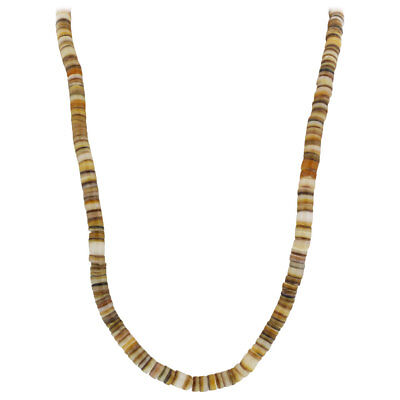 5mm wide New Shell Necklace 18 Inch Long with Screw Clasp 5 Mm Shell Necklaces