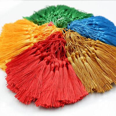Bookmark Craft (10PCS DIY Craft Multi Color Tassels Fringe Pendants Bookmark Bag Hanging Decor)