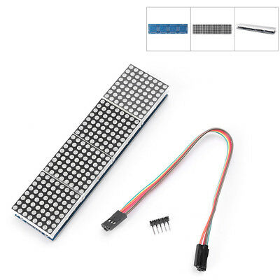 Max7219 Dot Led Matrix Mcu Control 4-in-1 Led Display Module For Arduino New 2y