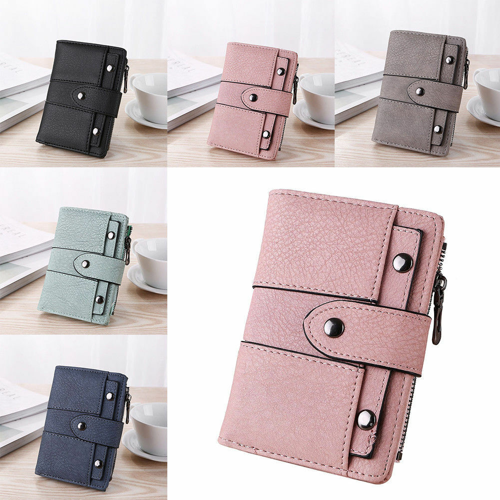 Women Ladies Leather Clutch Wallet ID Card Holder Bifold Purse Short Handbag US Clothing, Shoes & Accessories