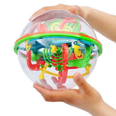 100 Barriers 3D Labyrinth Magic Intellect Ball Balance Maze Perplexus Puzzle Toy