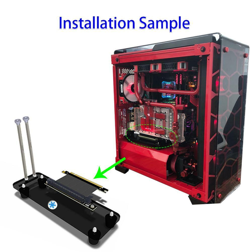 как выглядит PCI-E3.0 16X Riser Card Cooler Stand Vertical Graphics Card Stand Holder Bracket фото