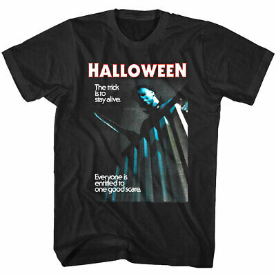 OFFICIAL Halloween Horror Movie Men's T Shirt One Good Scare Michael Myers  - Mens Halloween Tee Shirts