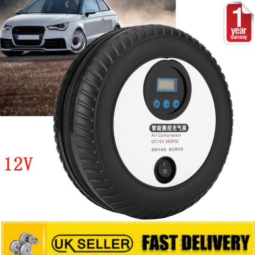 Automatic 12v Car Tyre Air Compressor 260psi Digital Inflator Pump Van Bike New