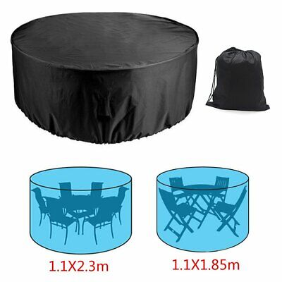 Round Waterproof Outdoor Garden Patio Table Chairs Furniture Cover UK Fast Ship