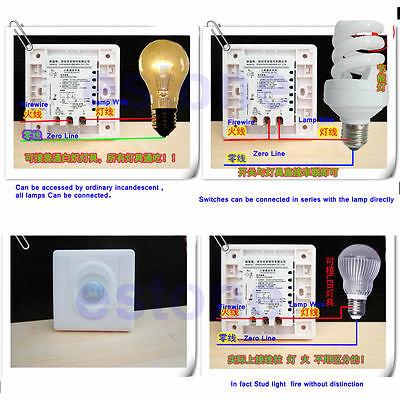 1pc Auto On Off Led Lights Ir Pir Infrared Switch Module Body Motion Sensor