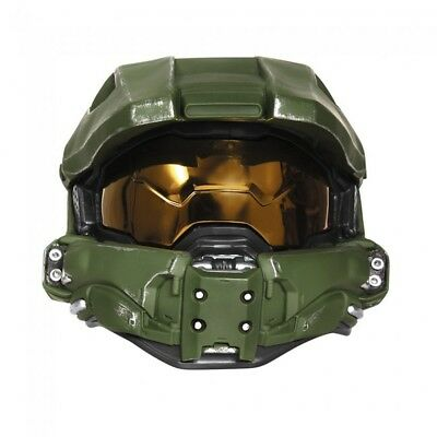 Master Chief Full Helmet Deluxe Adult Halo XBOX Mask With Lights Costume - Master Chief Mask