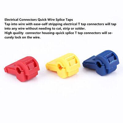 60pcs T Tap Conectores Eléctricos Conectores De Empalme De Cables Rápidos Y