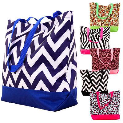 Large Printed Tote Bag Shoulder Handbag Purse Big Shopping Grocery Beach Shopper ()