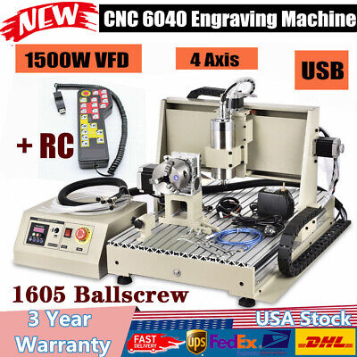 1.5kw Usb 4 Axis Cnc 6040 Router Engraver Engraving Machine Milling 3dhandwheel
