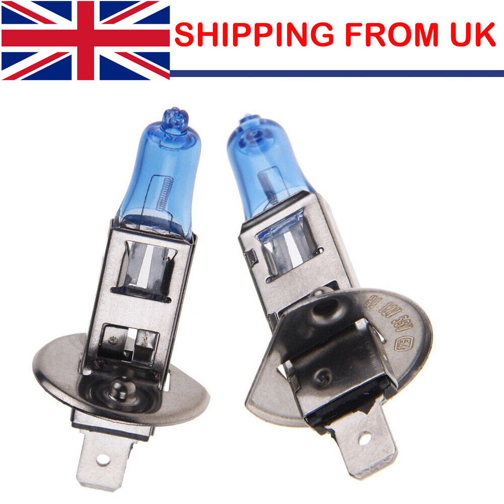 4X H1 6000K XENON GAS HALOGEN Super WHITE LIGHT LAMP BULBS 100W 12V UK Stock