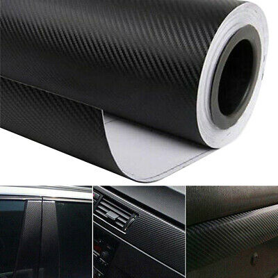 3D Carbon Fiber Car Vinyl Foil Film Wrap Roll Sticker Decal Interior Accessories (Black Foil)